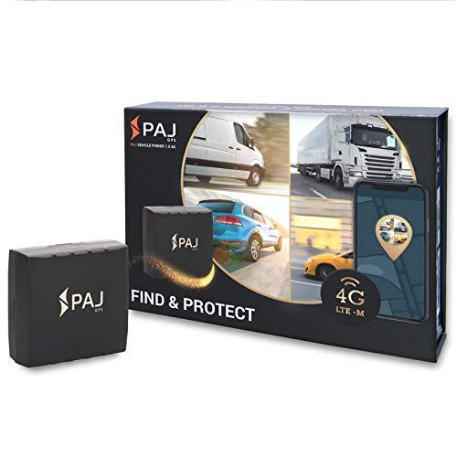 PAJ GPS Vehicle Finder 1.0 Professional GPS- Localizador GPS para protección antirrobo de Coches, Motos y Camiones- Conexión Directa a batería y Seguimiento en Vivo (Version 4G)- Marca Alemana