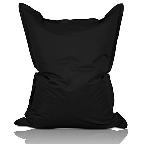 Lumaland Luxury Riesensitzsack XL Sitzsack 270l Füllung 120 x 160 cm Indoor Outdoor schwarz