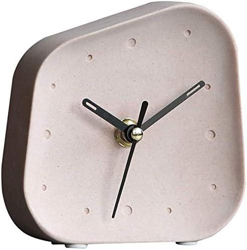 Bombing free shipping Ging Fashion Simple Cute Alarm Clock Clocks Stone Clo White