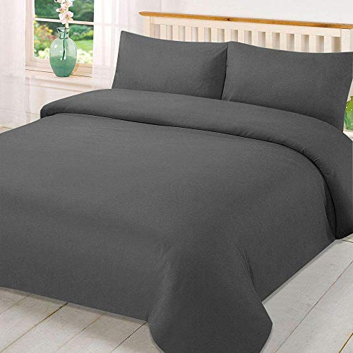 Novali Luxuriöses Bettbezug-Set aus gebürsteter Mikrofaser, superweich, inkl. luxuriöser Kissenbezüge, 3 Paar