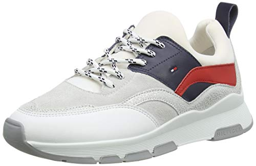Tommy Hilfiger Sporty Chunky Glitter Sneaker, Zapatillas Mujer, Rojo (RWB 0kp), 39 EU