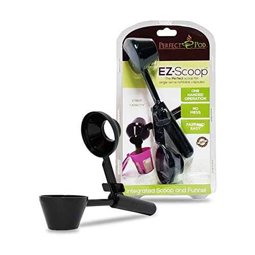Perfect Pod EZ-Scoop   2-in-1 Coffee Scoop and Funnel for Single-Serve Refillable Capsules, 2 Tablespoon Portioned Coffee Scooper