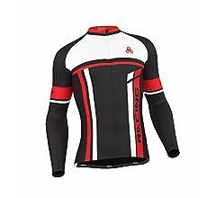 Men/'s Urban Cycling Team Red Thermal Winter Cycling Set Bundle Long Sleeve /& Tights