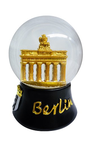 Schneekugel Berlin Brandenburger Tor schwarz gold 6,5 cm