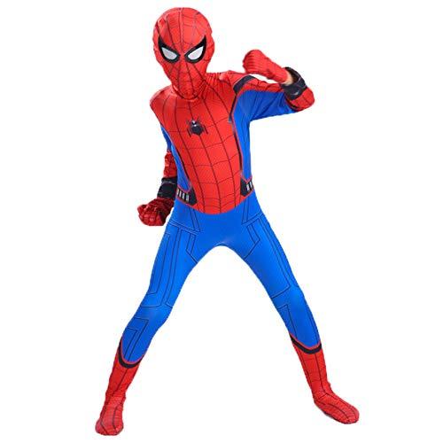 Spider-Man: Homecoming Disfraces Nios Adulto 3D Imprimir Cosplay Fancy Dress Traje Spandex/Lycra Mono Mono para Party Pelcula Disfraz Props,Spiderman-100~110cm