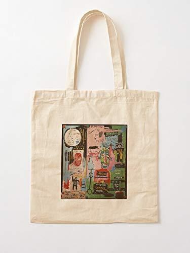 Saltandlaceintimates Michel Street Jean Basquiat Boxer Tote Cotton Very Bag | Bolsas de supermercado de lona Bolsas de mano con asas Bolsas de algodón duraderas