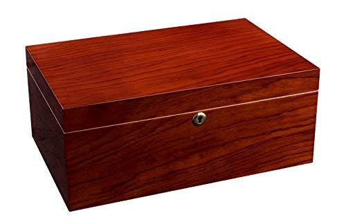 ADORINI Humidor Santiago - Deluxe | Aufbewahren von Zigarren mit Befeuchter und Hygrometer - bis zu 150 Zigarren - Braun