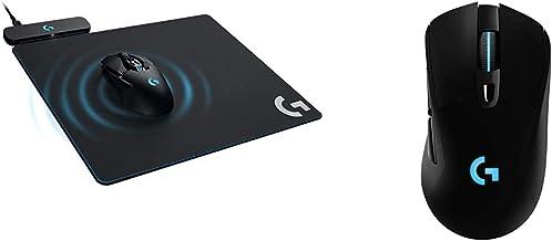 Logitech G Powerplay Wireless Charging System - Black & 703 Lightspeed Wireless Gaming Mouse W/Hero 25K Sensor, PowerPlay ...