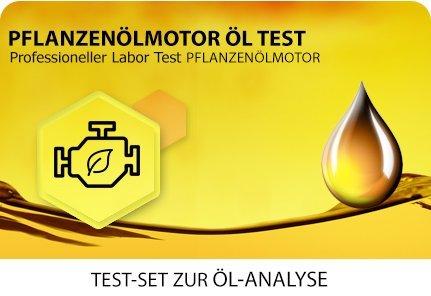 Öl Test für pflanzenölbetriebene Motoren