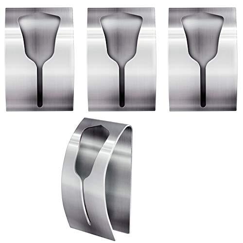 Tatkraft IDA Colgadores para Toallas Fuertes Adhesivos   Set de Toalleros de 4 Unidades   hasta 5 kg   Acero Inoxidable