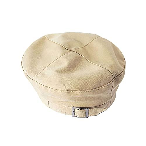 RWHXN Sombrero EMF Antirradiación 5G, Blindaje RF Electromagnético, Boina de Protección Radiológica WiFi, Torres de Telefonía Móvil, Computadora, Bloqueador de Radiación-One Size-Beige