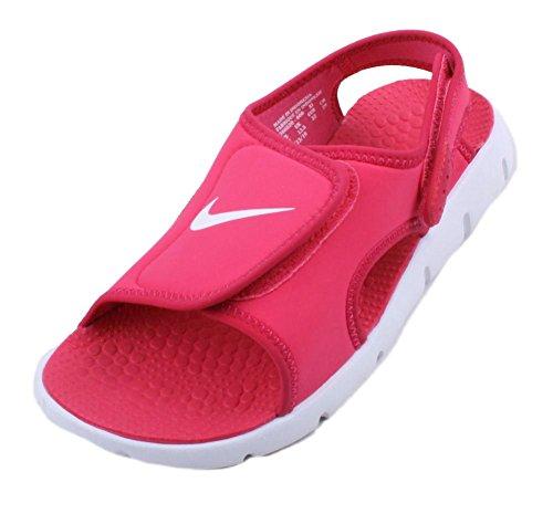 Nike Sunray Adjust 4 (GS/PS), Chanclas Niñas, Rojo/Blanco (Spark/White-Voltage Cherry), 32