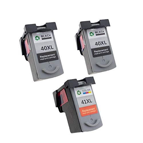 ZIJ PG-40 CL-41 - Cartucho de tinta compatible PG40 para impresora Canon Pixma MP140, MP150, MP160, MP180, MP190, MP210, MP220, MP450, MP470 (color: 2BK 1C)