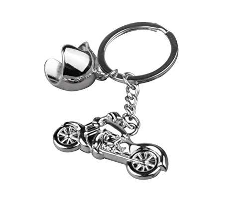 Familienkalender Motorrad mit Helm Schlüsselanhänger aus Metall Moped | Chopper | Geschenk für Männer | Harley |