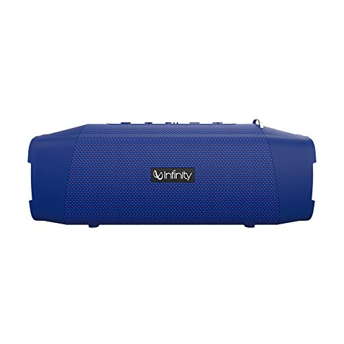 Infinity Fuze 700 Dual EQ Deep Bass 20W Portable Stereo Speaker with 10 Hours Playtime, Built-in Powerbank, Bluetooth 5.0 and IPX7 Waterproof (Mystic Blue) (Electronics)
