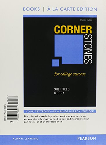 Cornerstones For College Success Student Value Edition 7th Edition