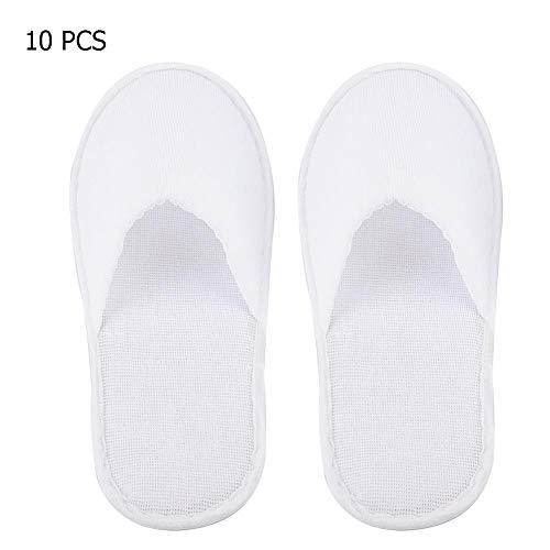 Pantofole usa e getta da 10 paia, pantofole antiscivolo bianche con punta chiusa Scarpe comode pantofole leggere per spa