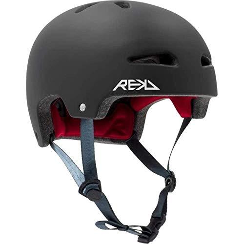 REKD Ultralite In-Mold Hjälm skateboard-hjälm, unisex, vuxna, svart, 57–59 cm