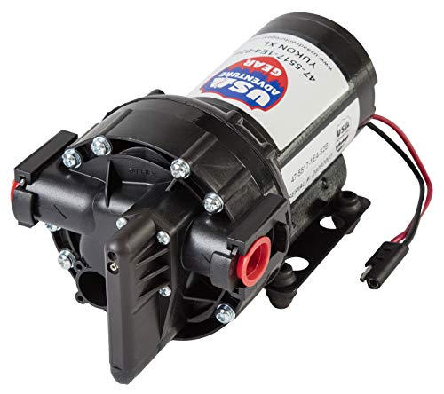USA Adventure Gear ProGear 5500 High Performance Professional Grade Water Pump | Made in the USA | 12 Volt DC | 5.5 GPM | 14 Foot Lift | Self-Priming | Potable Water Use | RV, Boat, Plumbing