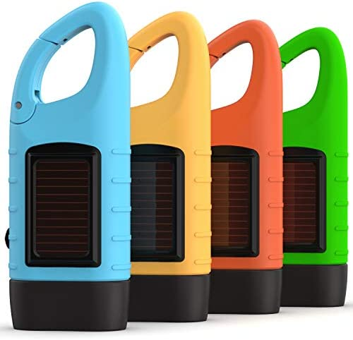 Rechargeable Flashlights 3 Pack with Solar Power Hand Crank BONUS Glow in the Dark Emergency product image
