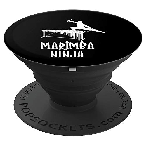 Marimba Ninja | Funny Marimba Music Player PopSockets Grip and Stand for Phones and Tablets