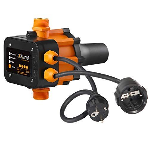 TRUSTTO EPC-1 Druckwächter Druckschalter Pumpensteuerung Hauswasserwerk Gartenbewässerung 10bar(Max) Automatischer Wasserpumpen-Druckregler elektronischer Druckregler (Mit Kabel)