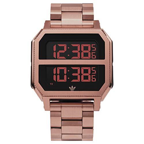 Adidas Unisex Digital Spezielles Modul Uhr mit Edelstahl Armband Z21-897-00