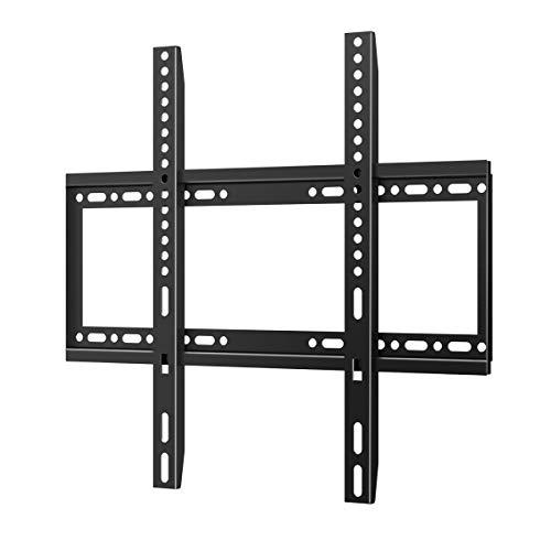 Feste TV-Wandhalterung, ultradünn, für die meisten 26-55 Zoll LED LCD OLED Plasma Flachbildfernseher, niedriges Profil, max. VESA 400 x 400 mm, Tragkraft bis 40 kg, Wasserwaage