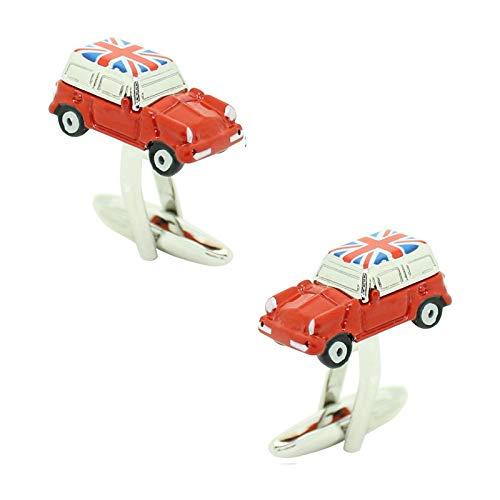 MasGemelos Manschettenknöpfe Mini Cooper Rot Flagge UK Cufflinks