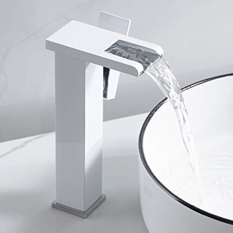 Wasserhahn Einhand Wasserhhne Wasserfall Wasserhahn Bad Waschbecken Badezimmerschrank Waschbecken Heien Und Kalten Wasserhahn Wasserfall Wei Hohen Abschnitt