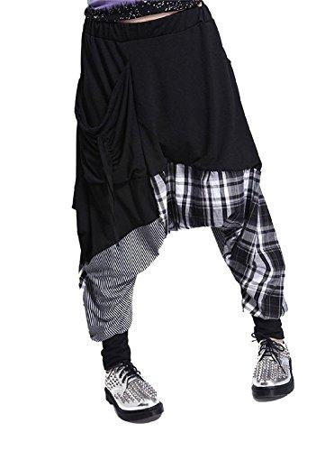 Très Chic Mailanda Donna Baggy Harem Pants Casual Danza Hip Hop Pantaloni