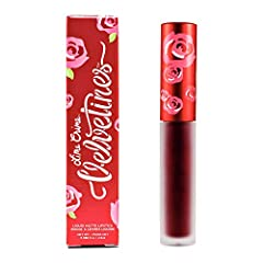 Long-Lasting Liquid Matte Lipstick; Richly pigmented, this gorgeous blood red lipstick glides on as a liquid and dries down to a velvety matte finish that lasts for hours and hours Luxurious Velvety Matte Finish For Luscious Lips; French vanilla-infu...