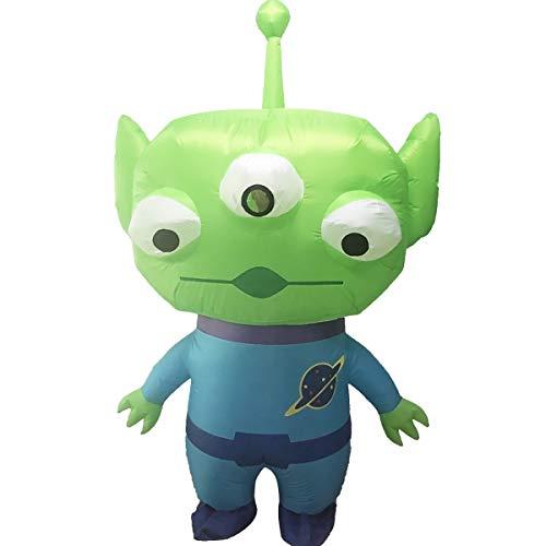 FIZZENN Divertido Inflable Toy Story Golpe Alien Traje del Vestido Traje para La Fiesta De Cosplay para Adultos/Niños De Halloween Navidad