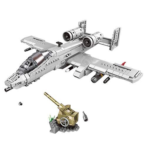 iVansa WW2 A10 Kämpfer Militär Militär Baustein Flugzeuge DIY Konstruktionsspielzeug für Kinder und Erwachsener, 961 Stück
