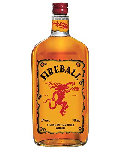 Fireball Cinnamon Whisky - botella de Licor de Whisky infusionado con canela - 700ml