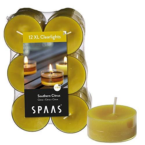 Spaas - Velas, Cera de parafina, Taza de plástico, Otoño Amarillo, Southern Citrus