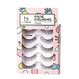 LANKIZ False Eyelashes Natural Look 3D False Eyelashes Faux Thick Fluffy Soft Handmade Reusable Strip Lashes For Women Makeup Fake Lashes 5 Pairs Pack