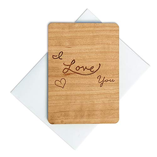 Wooden Valentines Day Card