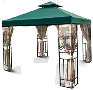 COLIBROX New 10'x10' 2-Tiered Replacement Garden Gazebo Canopy Top Sun Shade - Green