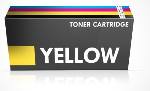 Compatible Dell 1250 Laser Toner Cartridge for Dell Printers 1250c, 1350cnw, 1355cn, 1355cnw, C1760, C1760nw, C1765, C1765nfw - YELLOW