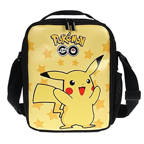 CosplayStudio Bolsa de almuerzo para niños de Pokémon, bolsa isotérmica con Pikachu, 21 x 26 x 6 cm, diseño: Pikachu