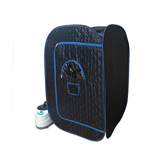 GFSD 4L 2000W Dampfsauna Tragbarer Saunaraum Nützliche Haut Gewichtsverlust Kalorien Bad SPA Mit Saunatasche 110 V / 220 V (Color : Schwarz, Size : 135x80x80cm)