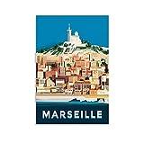 QTYB Vintage Tourismus Landschaft Poster Frankreich