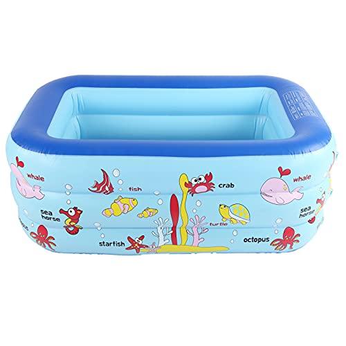 KXIUOA Piscina Inflable para niños, Piscina Inflable, Piscina para niños con diseño de océano, Piscina Inflable para niños, Piscina para niños, Suelo para niños