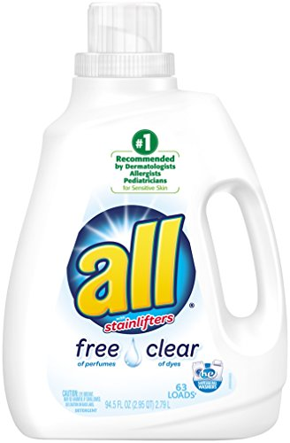 all Liquid Laundry Detergent, Free Clear for Sensitive Skin, 94.5...