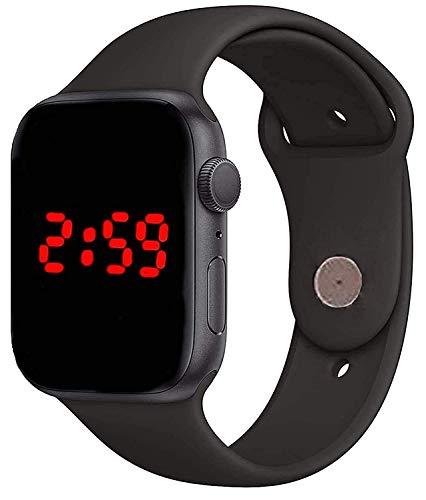 CERO Black Digital Rubber Strap Led Watch for Kid's-Children's-Boy's &Girl's -7576 (Black)