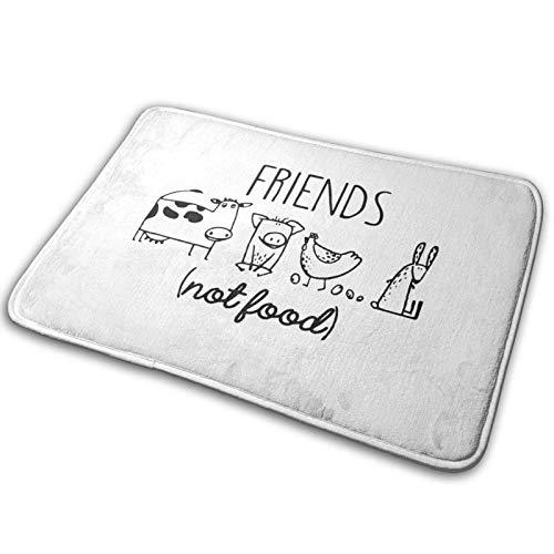 Alfombrilla de Suelo al Aire Libre para el hogar estándar Friends Not Food