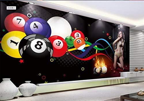 Tapeten Beauty-Club-Gymnastikwerkzeughintergrundwanddekorationsmalerei Des Kundenspezifischen Billiardballs Der Wand 3D Reizvolle