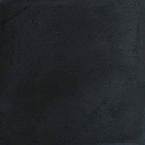 0,4m² einfarbige Zementfliesen Betonfliesen für den Boden tiefschwarz 022