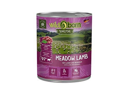 Wildborn Meadow Lamb getreidefreies Hundefutter Nassfutter mit Lamm 6x800g Dosen